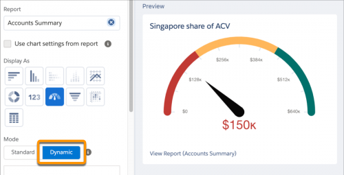 Automatically Tune Your Dashboards to Your Business Goals with Dynamic Gauge Charts (Beta)