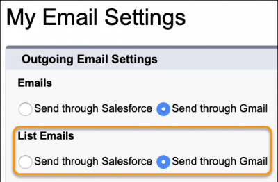Send List Email Your Way (Pilot)